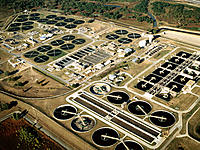 Sewage plant. Dallas. Texas. USA