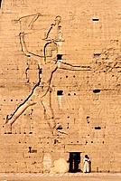 Horus temple. Edfu. Egypt