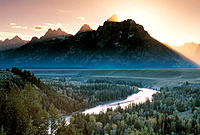 Snake River and Teton Range. Grand Teton National Park. Wyoming. USA