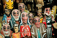 Wood figures. Chichicastenango. Guatemala