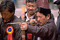 Archery competition. Leh. Ladakh region. India