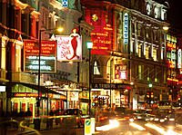 'Theatreland', Shaftesbury Avenue. London. England