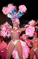 Cuban mulatto woman dancer. Cabaret Tropicana. Havana. Cuba.