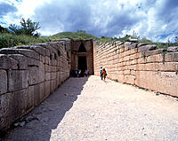 Treasury of Atreus. Mycenae. Argolis. Peloponnese. Greece