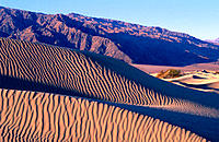 Mesquite Flat Sand Dunes and Tucki Mountain. Death Valley National Park. California. USA