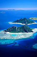 Group of islands: Monuriki, Monu and Yanuya. Mamanucas. Fiji Islands