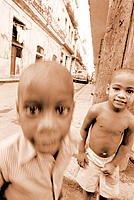 Boys playing in streets. Havana. Cuba