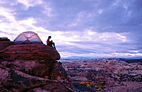 Camping on Slick Rock. Grand Staircase-Escalante NM. Utah. USA