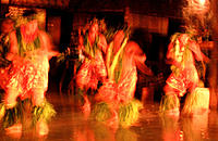 Tahitian dancers. Huahine. Society Islands. French Polynesia