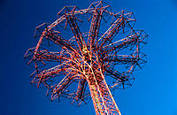 Parachute drop. Coney Island. New York City. USA