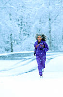 Senior woman jogging. Alaska. USA