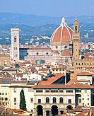 Duomo and Palazzo Vecchio. Florence. Tuscany. Italy