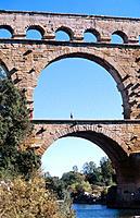 Pont du Gard, Roman aqueduct. Provence. France