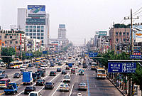 Midday traffic. Seoul. South Korea