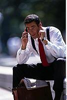 Businessman, telephone, Handy