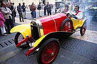 Barcelona-Sitges vintage car rally. Spain