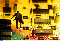 Printed circuit board, Businessman