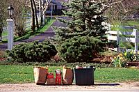 Recycling domestic waste at suburban area