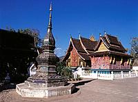 Stupa. Wat Xieng Thong. Luang Prabang. Laos