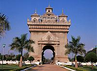 Patouxai Arch. Vientiane. Laos