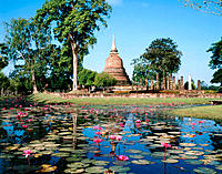 Wat Sa Si. Sukhothai. Thailand