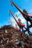 Cranes at port. Bilbao. Spain