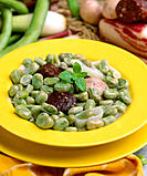 Broad beans Catalan style