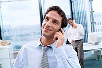 Geschäftsmann Handy Telefon telefonieren