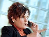 Geschäftsfrau Frau Handy Telefon telefonieren
