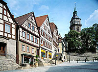 Germany, Backnang, Swabian Forest, Baden-Wuerttemberg, market place