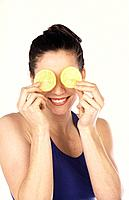 Woman with lemons