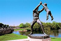 Gustav Vigeland sculptures at Frogner Park. Oslo. Norway