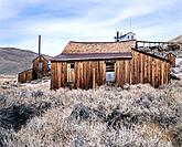 Mining buildings. Bodie State Historic Park. California. USA