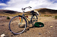 Bicycle. Bolivian altiplano