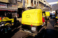 Rickshaws. Old city. Delhi. India