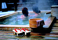 Women in hot spring, Japan