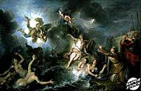Perseus Rescues Andromeda (Persee Deliverant Andromede) Charles Antoine Coypel (1694-1752/French) Musee du Louvre, Paris