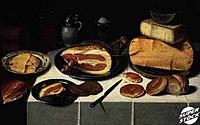 Still Life with Ham 17th C. Floris van Schooten (c. 1590/Dutch) Musee du Louvre, Paris