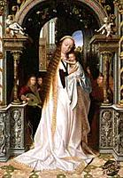 Virgin and Infant With Three Angels Quinten Metsys I (1465/6-1530 Flemish) Oil on panelMusee des Beaux-Arts, Lyon, France