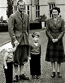 Queen Elizabeth II and Prince Philip with Prince Charles and Princess AnneBalmoral Castle Scotland