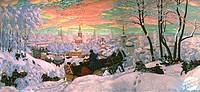 Carnival 1916 Boris Mihajlovic Kustodiev (1878-1927/ Russian) Russian State Museum, St. Petersburg