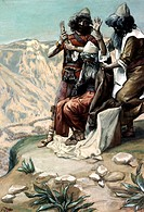 Moses on the Mountain During the BattleTissot, James 1836-1902  FrenchJewish Museum, New York City