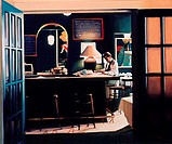 Late Night II 1991 Dale Kennington 20th C /American Oil on canvas