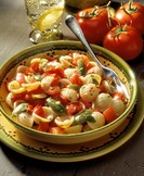 Small Shell Pasta with Olives and Tomatoes