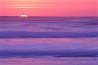 Sunset over beach. Nehalem Bay State Park. Oregon. USA