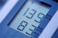 Blood pressure meter reading