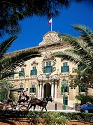 Castille and Leon Auberge, now the office of the Prime Minister. Valletta, Malta