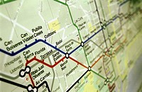 Barcelona subway map