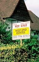 'For Sale' sign, London, UK