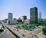 Paseo de la Castellana avenue. Madrid. Spain